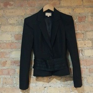 Elizabeth and James Cropped Tuxedo Belted Blazer